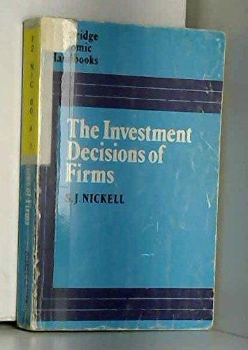 9780720203103: Investment Decisions of Firms (Cambridge Economic Handbooks)