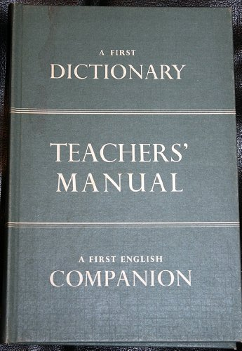 9780720209419: A First Dictionary : Teachers' Manual : A First English Companion