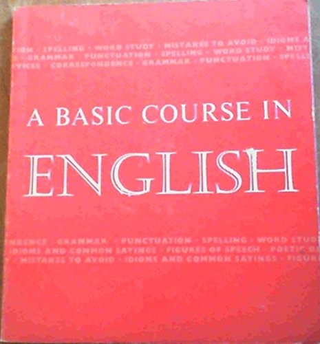 9780720209495: A Basic Course in English