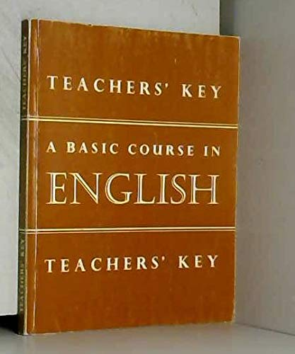 9780720209518: Basic Course in English: Tchrs'