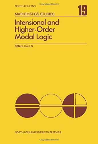 9780720403602: Intensional and Higher-Order Modal Logic