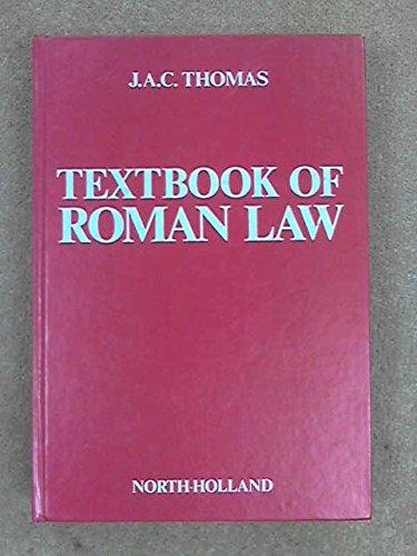 9780720405132: Textbook of Roman Law