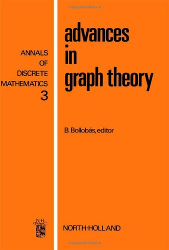 9780720408430: Advances in graph theory, Volume 3 (Annals of Discrete Mathematics)