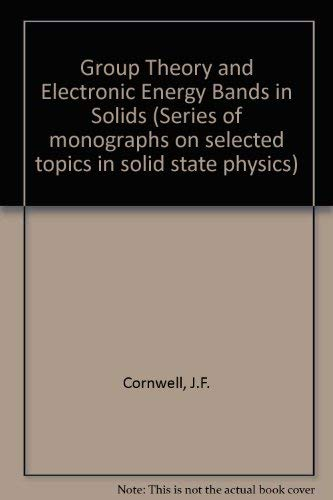 Group theory and electronic energy bands in: J. F Cornwell