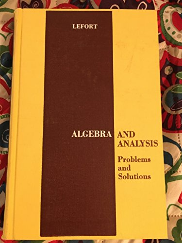 9780720420166: Algebra and Analysis: Problems and Solutions