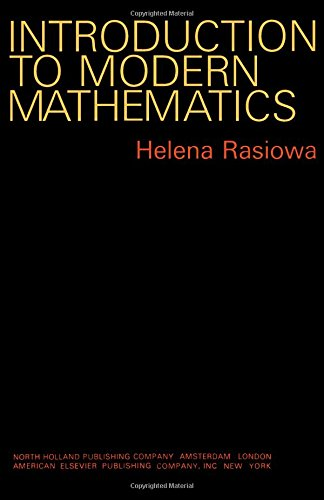 9780720420678: Introduction to Modern Mathematics