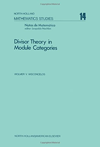 9780720427158: Divisor Theory in Module Categories
