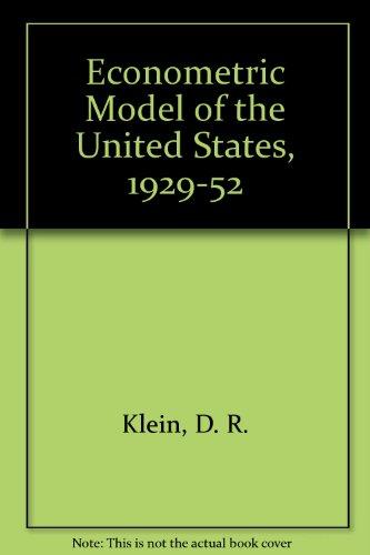 9780720431179: Econometric Model of the United States, 1929-52