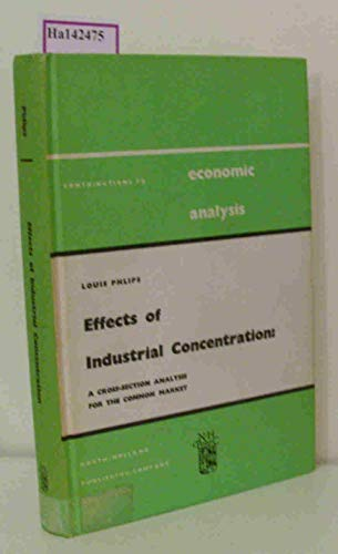 Effects of industrial concentration: A cross-section analysis for the Common Market (Contribution...