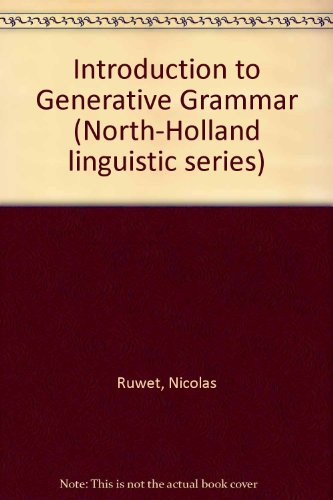 9780720461879: An Introduction to Generative Grammar