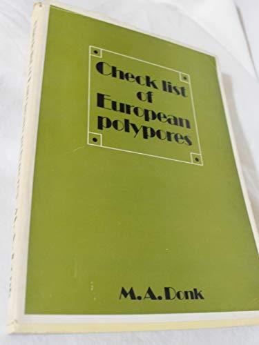 Checklist of European Polypores.: Donk, M.A.