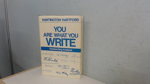 9780720600445: You are What You Write: Handwriting Analysis
