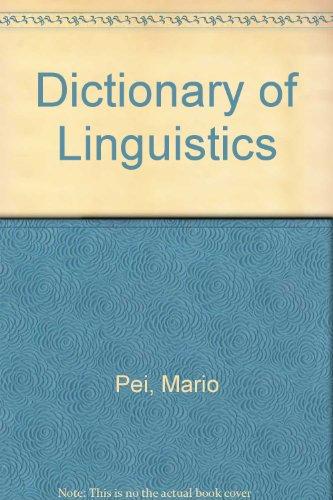 9780720622317: Dictionary of Linguistics