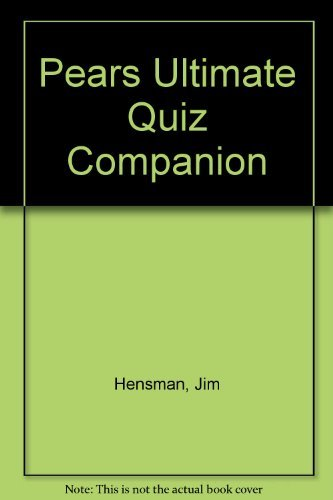 9780720718126: Pears Ultimate Quiz Companion (Pears series of reference books)