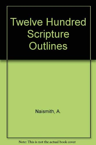9780720800166: Twelve Hundred Scripture Outlines