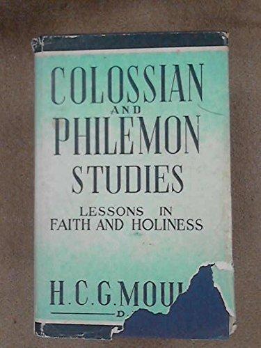 9780720803631: Colossian and Philemon Studies