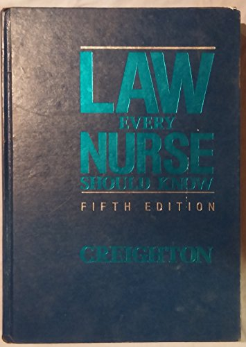 9780721618333: Law Every Nurse Should Know