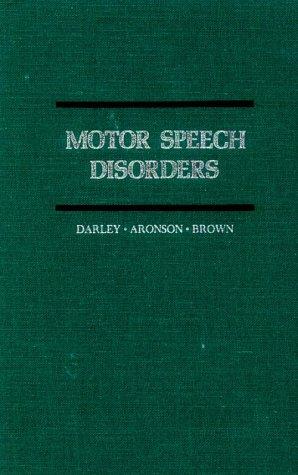 9780721628783: Motor Speech Disorders