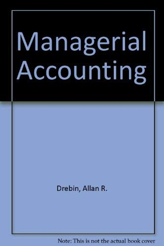 9780721631882: Managerial Accounting