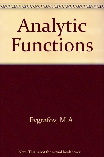 9780721634609: Analytic Functions
