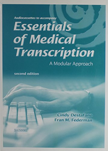 9780721639291: Audio Tapes to Accompany Essentials of Medical Transcription