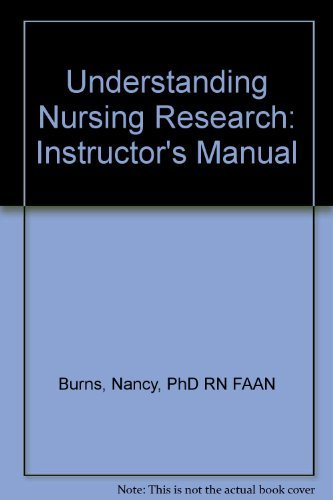 9780721644394: Understanding Nursing Research: Instructor's Manual