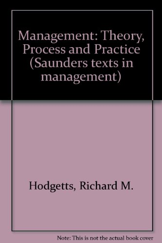 9780721647081: Management: Theory, Process and Practice