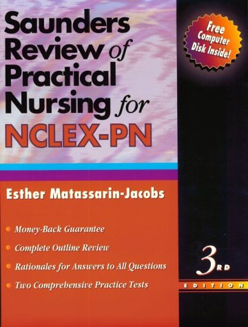 9780721658728: Saunders Review of Practical Nursing for NCLEX-PN (Book with Diskette)