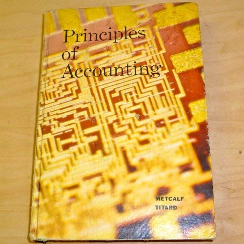 9780721663135: Principles of Accounting