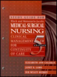 9780721669502: Study Guide For Black and Matassarin-Jacobs Medical-Surgical Nursing: Clinical Management For Continuity of Care