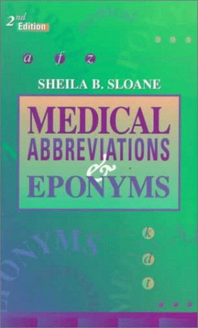 9780721670881 Medical Abbreviations And Eponyms Abebooks Sheila