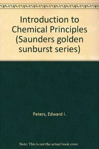 9780721672090: Introduction to Chemical Principles