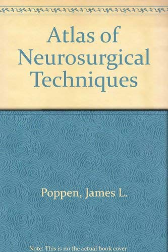 9780721672908: Atlas of Neurosurgical Techniques
