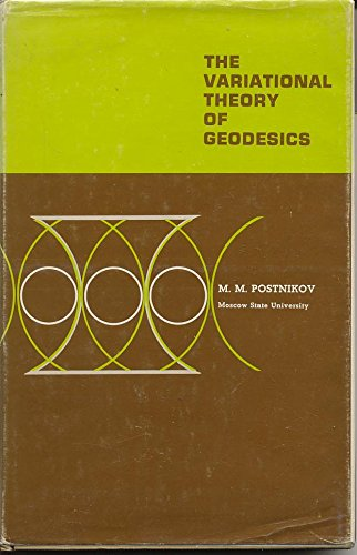 9780721673103: Variational Theory of Geodesics