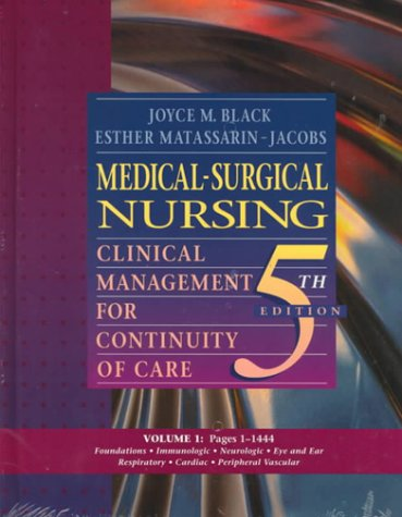 9780721674841: Medical-Surgical Nursing: Clinical Management for Continuity of Care, 2-Volume Set: Clinical Management for Continuity of Care, 5/e 2 Volume Set