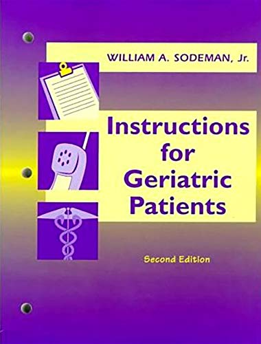 9780721674902: Instructions for Geriatric Patients (Book with CD-ROM for Windows & Macintosh)