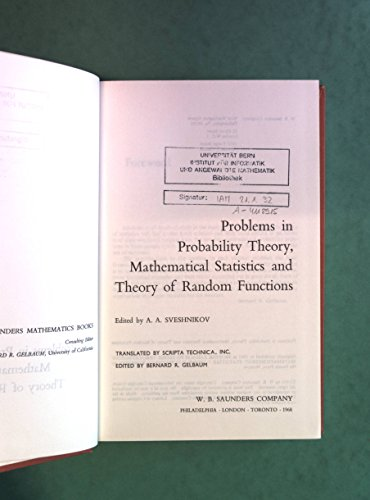 9780721687001: Problems in Probability Theory, Mathematical Statistics and Theory of Random Functions
