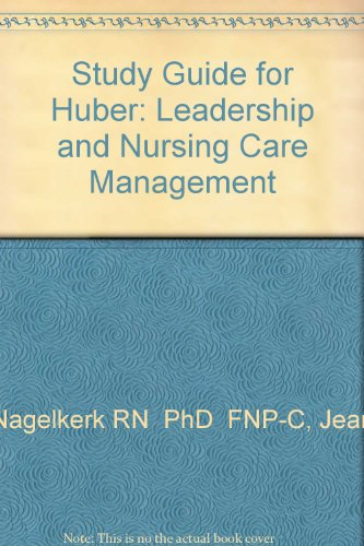 9780721692005: Study Guide for Huber: Leadership and Nursing Care Management