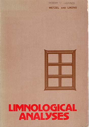9780721692432: Limnological analyses