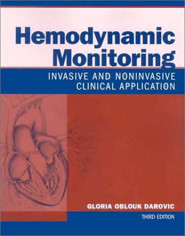 9780721692937: Hemodynamic Monitoring: Invasive and Noninvasive Clinical Application