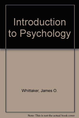 9780721693071: Introduction to Psychology