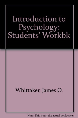 9780721693217: Introduction to Psychology: Students' Workbk