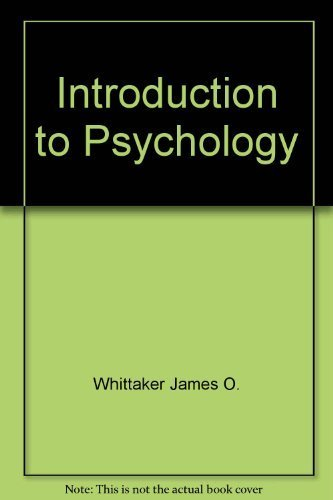 9780721693224: Introduction to Psychology