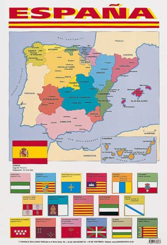 9780721708966: Espana (map of Spain) (Spanish Posters)