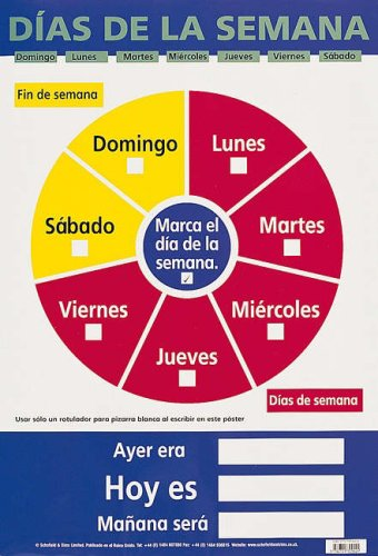 9780721709024: Dias de la Semana (Days of the Week) (Laminated Poster)