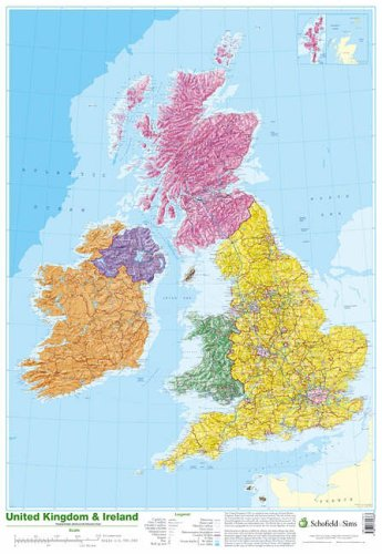 9780721709383: Map of UK and Ireland