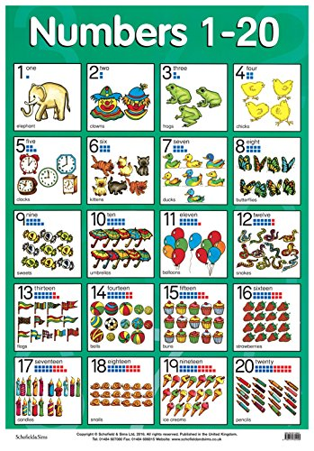 9780721755045: Numbers 1-20 (Laminated Poster) (Laminated posters)