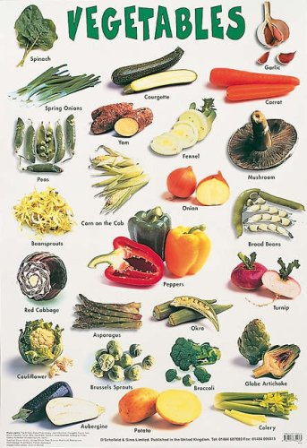9780721755243: Vegetables (Laminated posters)
