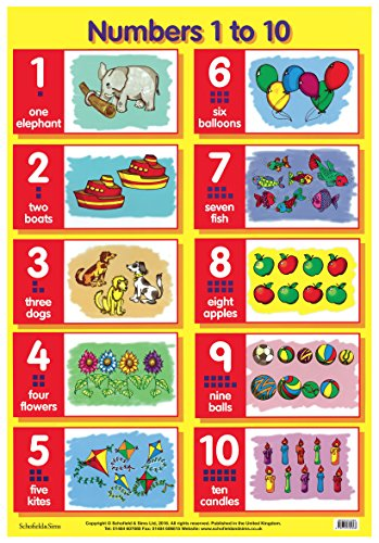 9780721755366: Numbers 1 to 10 (Laminated posters)