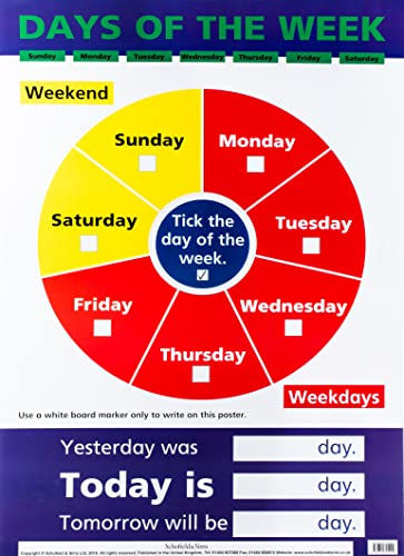 9780721755540: Days of the Week (Laminated Poster) (Laminated posters)